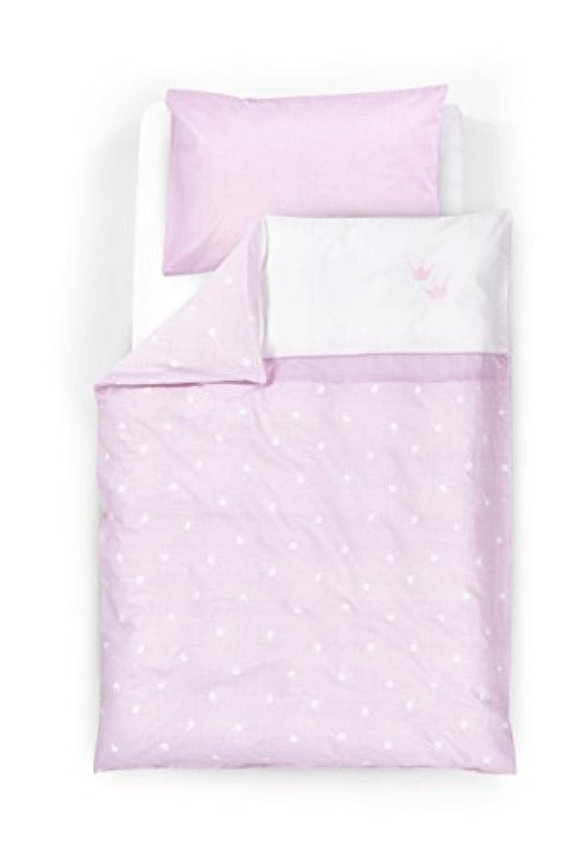 Tr?umeland TT12503 Bedding Set - Little Crown - 2-Piece - 80 x 80 cm - Pink by Tr?umeland