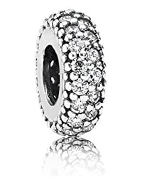 PANDORA Spacers Charms White Pave Bass Inspiration Within Charm Spacer