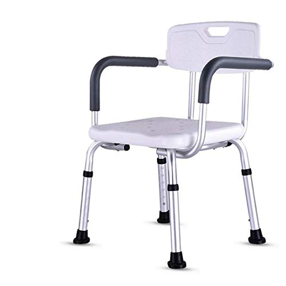 スマートるなんとなく背もたれ付き軽量折りたたみウェットバスルームシャワーシートチェア-高さ調節可能