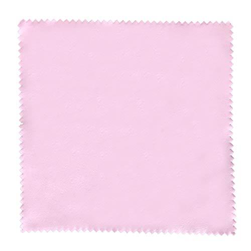 センヨン 銀磨きクロス シルバーみがき布 クリーナー 17.5cm×17.5cm 5枚セット ピンク