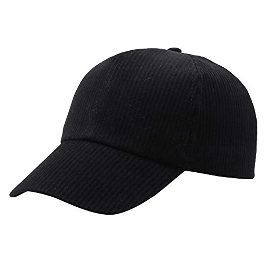 ウガンダ母推進、動かすRacazing Cap コーデュロイ 野球帽 迷彩 夏 登山 通気性のある メッシュ 帽子 ベルクロ 可調整可能 ストライプ 刺繍 棒球帽 UV 帽子 軽量 屋外 Unisex Hat (B)