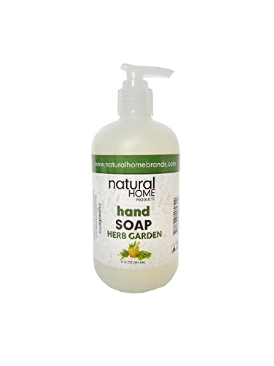 アルバム巻き取り直面するNatural Home Herb Garden Hand Soap, 350ml, Green