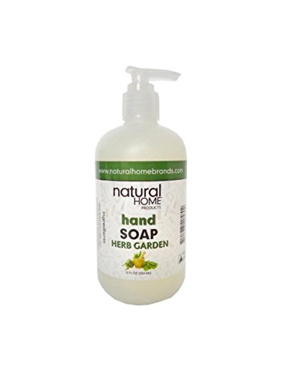 薄い受け皿富Natural Home Herb Garden Hand Soap, 350ml, Green