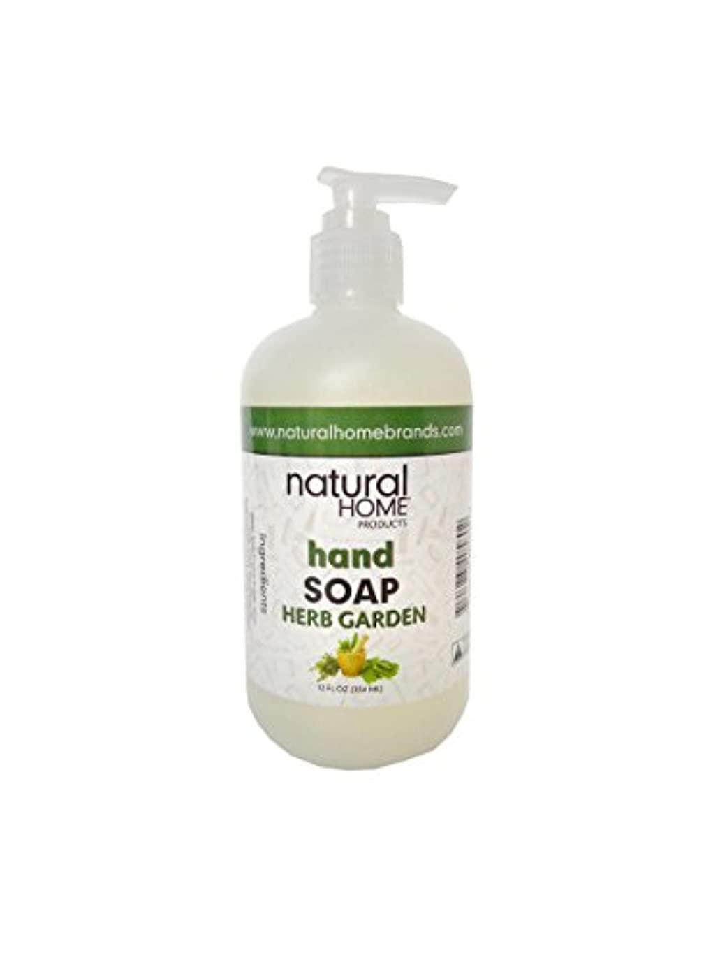 凍るキャリッジ内側Natural Home Herb Garden Hand Soap, 350ml, Green