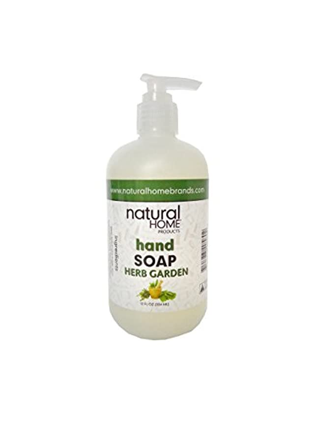バスケットボール作曲する愛撫Natural Home Herb Garden Hand Soap, 350ml, Green