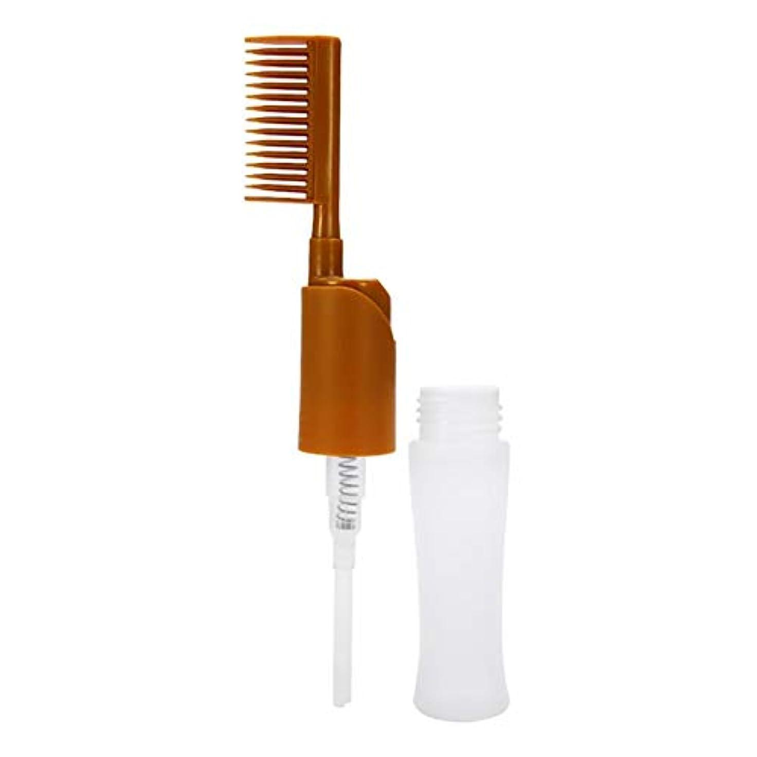試みる結果として上に櫛染毛の毛は、プロ型ディスペンサーボトル櫛毛染めアプリケータボトルスタイリングツールの美しさを染めます
