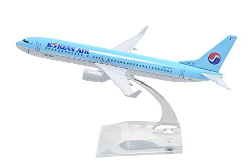 TANG DYNASTY 1/400 16cm 大韓航空 Korean Air ボーイング B737 高品質合金飛行機プレーン模型 おもちゃ