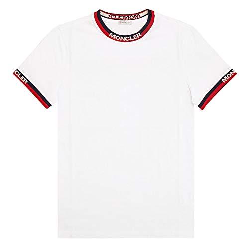 [モンクレール]MONCLER 半袖Tシャツ 80007 00 87296 T-SHIRT 001 WHITE size L [並行輸入品]