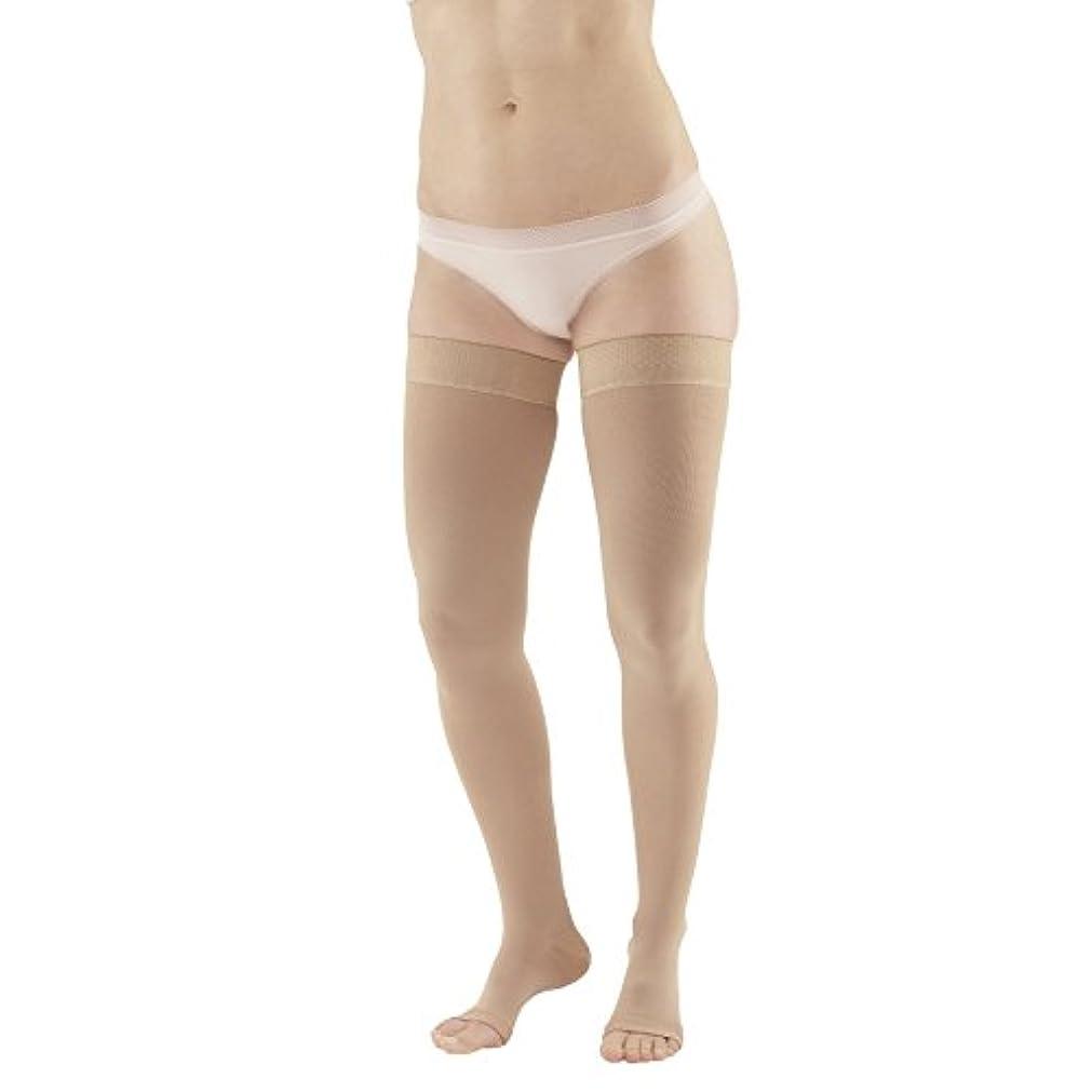 行き当たりばったり森林ガロンAmes Walker Unisex AW Style 212 Medical Weight Open Toe Compression Thigh High Stockings w/ Silicone Dot Band...