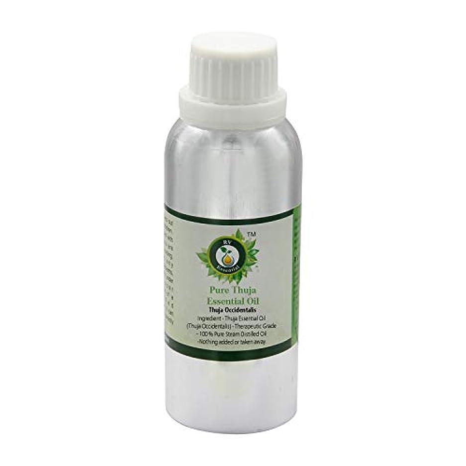 小売矩形貪欲ピュアThujaエッセンシャルオイル300ml (10oz)- Thuja Occidentalis (100%純粋&天然スチームDistilled) Pure Thuja Essential Oil
