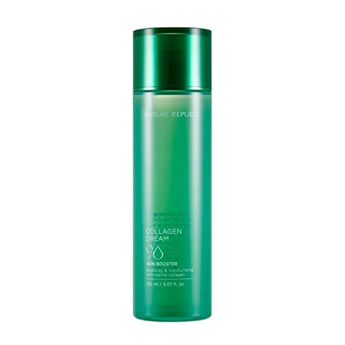 野心創造直面するネイチャーリパブリック(Nature Republic)コラーゲンドリーム90スキンブースター / Collagen Dream 90 Skin Booster 150ml :: 韓国コスメ [並行輸入品]