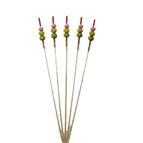 キッチン用品 竹串 3色だんご串(50本入)12cm おせち料理飾り串 料理串 89-18 送料無料
