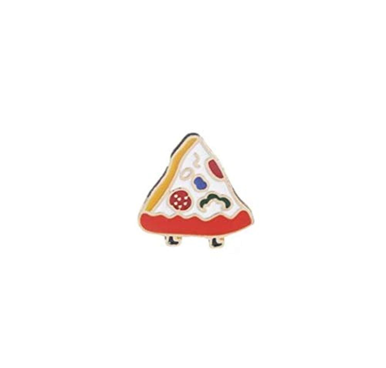 LUOSAI ブローチバッジボタンバッジクリエイティブラブリーバッジ絶妙な漫画のピザ(カラフル)