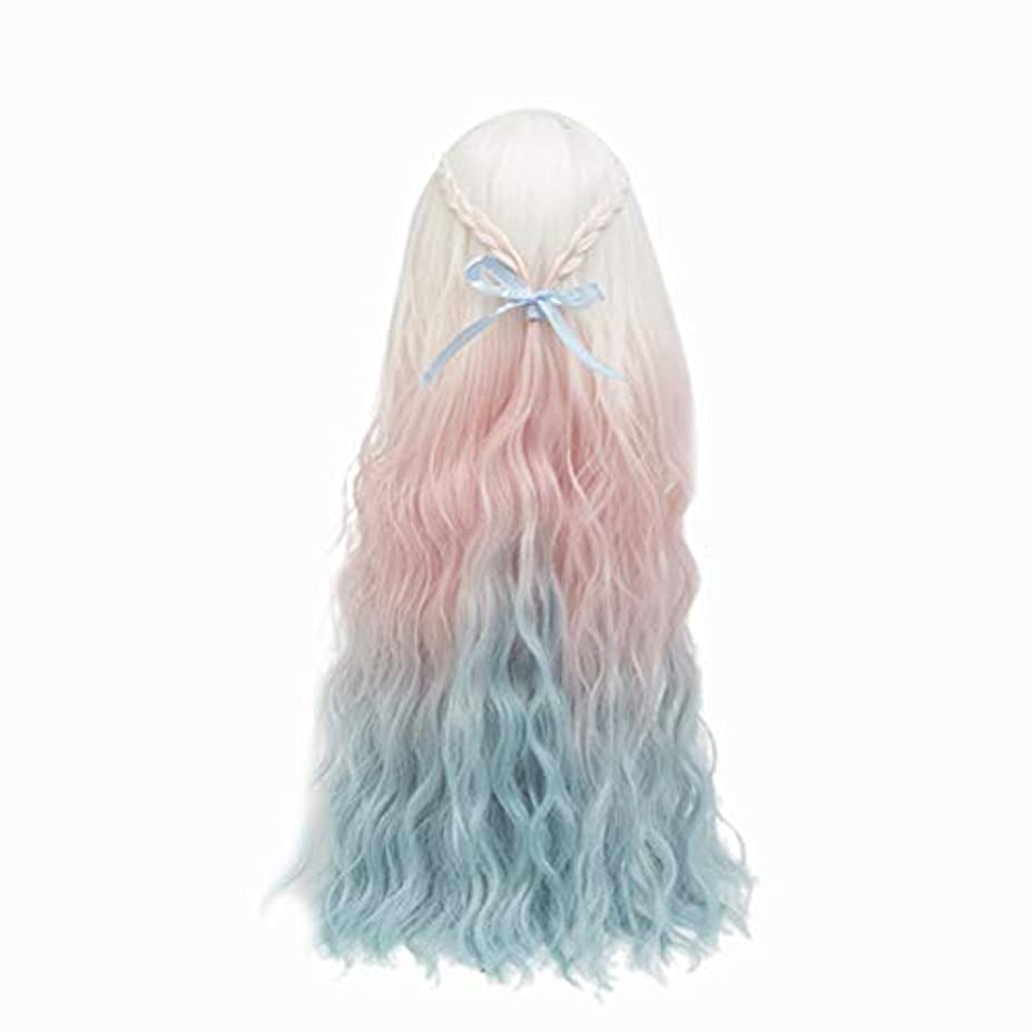 独裁製造ホップHealifty Healiftyファッション人形かつらヘアピース長い巻き毛人形用DIY作りと修理アクセサリー色とりどりのグラデーション