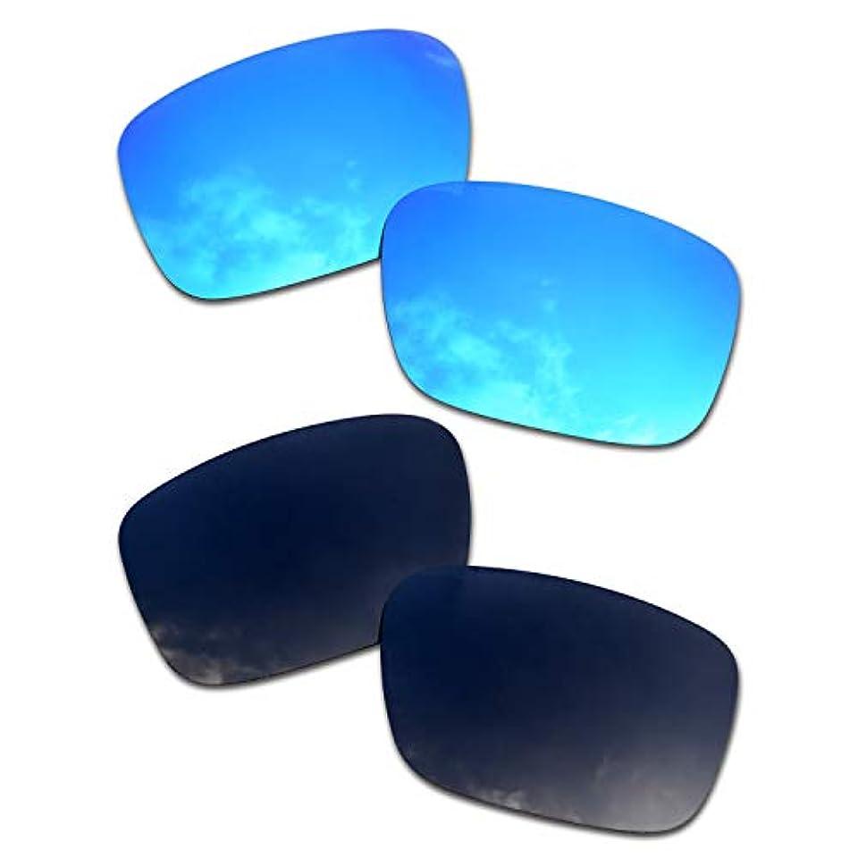 に対応するペンアベニューSOODASE 為に Oakley Drop Point サングラス ブルー/ブラック 2 ペア 偏光交換使用するレンズ