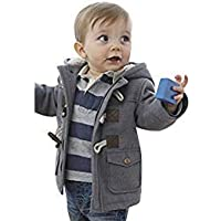 Ekaliy Baby Boy Girl Fleece Coats Hoodies Infant Toddler Kids Jackets