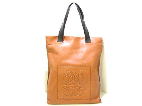 (ロエベ)LOEWE トートバッグ ショッパーバッグ ブラウン×黒 330.54.K01 【中古】