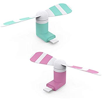 USB 小型扇風機 Stouchi Usb Mini Fan USBファン ミニ扇風機 スマホ用 -iPhone/iPadコネクタに対応
