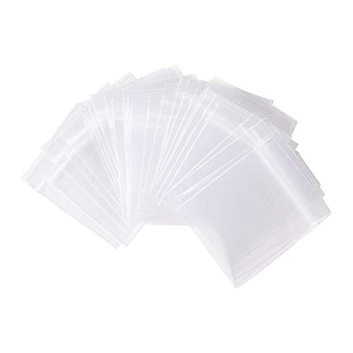 自分のナチュラル二層OLYCRAFT 1000枚 チャック袋 5x4cm 透明 チャック付 ポリ袋 ジッパー式 片側厚さ0.05mm 無地タイプ プラスチック リサイクル可能 小分け収納袋 お菓子 小物入れ クリア