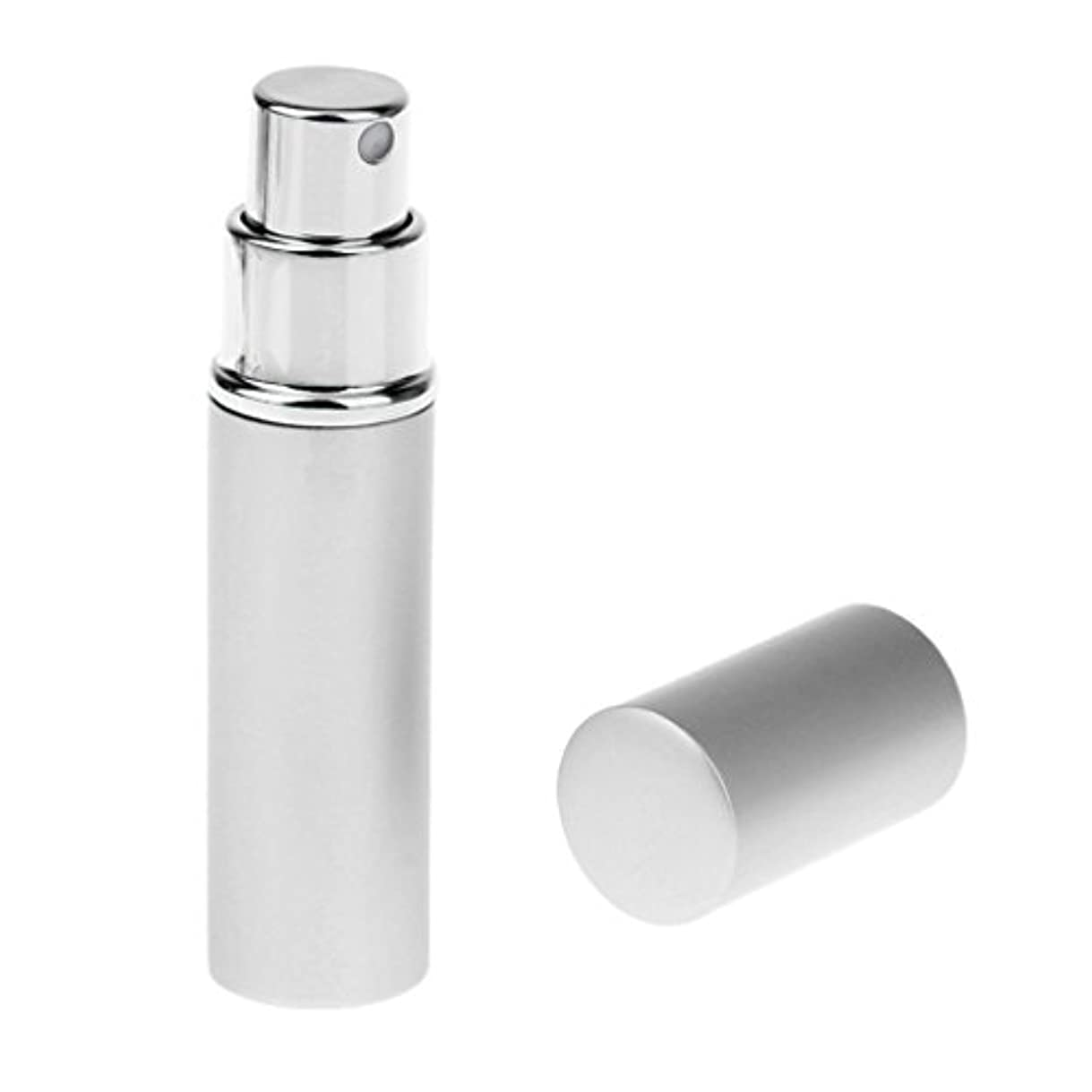 告白する期限切れアロング男女兼用 詰め替え可能 ポータブル アルミ ガラス製 香水アトマイザー 空ボトル ポンプ 銀色