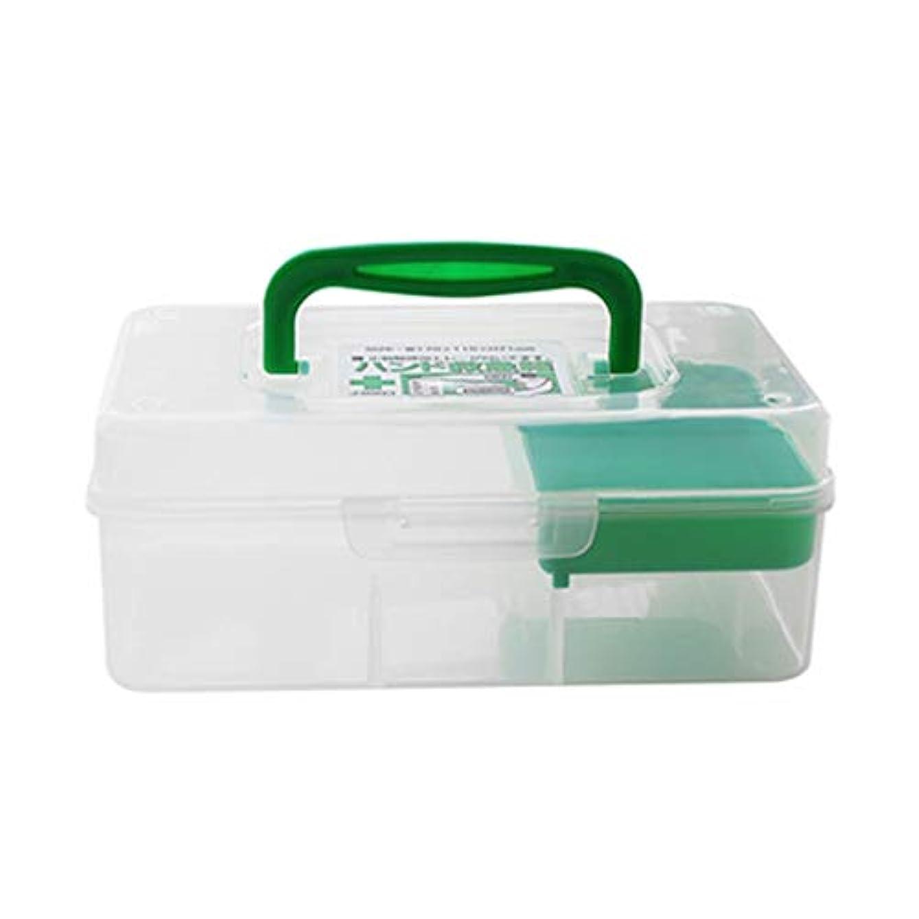 ブラザー娘シアーミニ応急処置キットポータブル薬箱プラスチック家庭用薬収納ボックス17.9 x 11.5 x 7 cm LXMSP