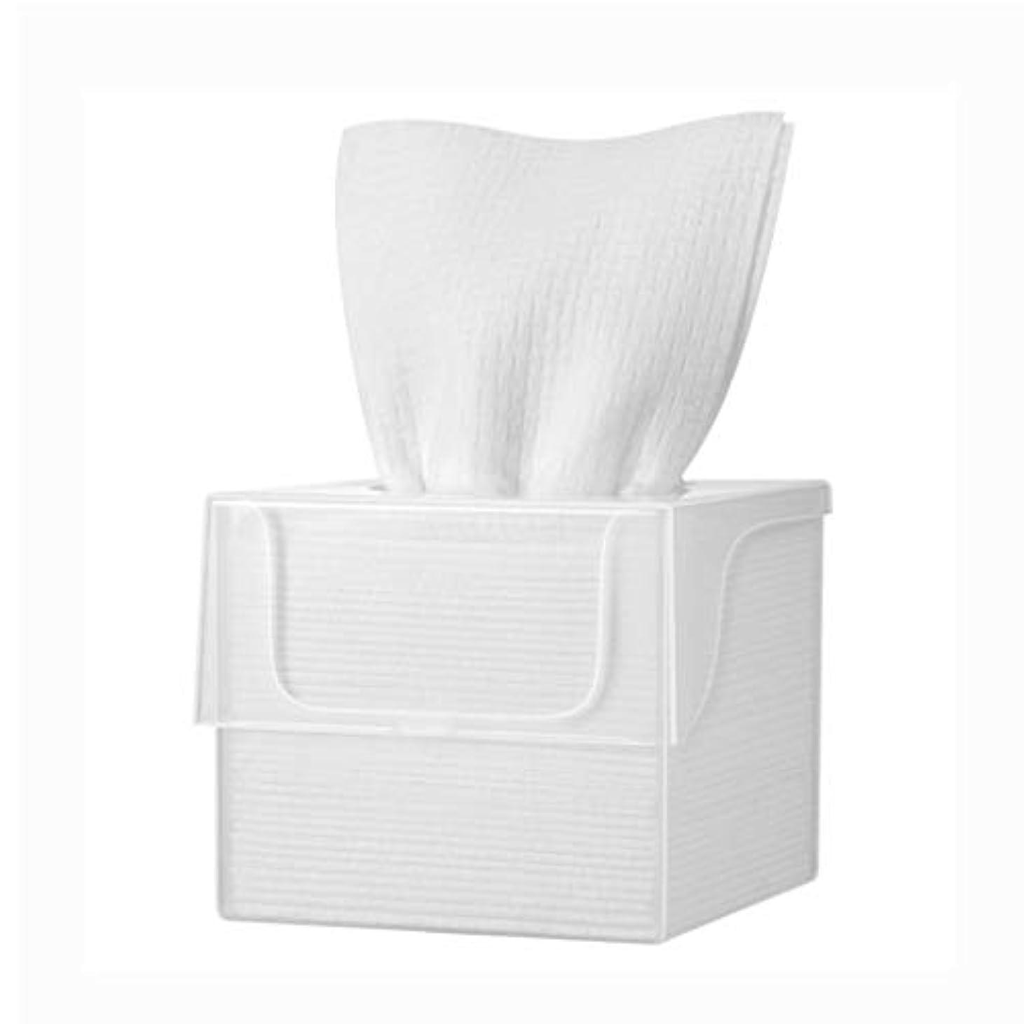 皮肉な正しく違反するコットンクレンジングタオル、女性ルームは、メイク落としフェイスタオルメイクアップ、化粧品ウォッシュ顔使い捨て洗浄綿 (Color : 40 pieces per box)