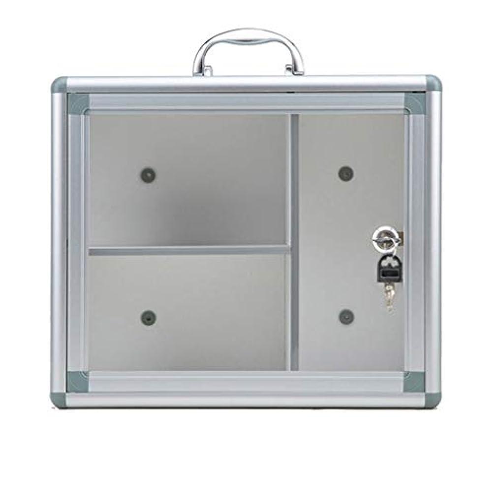 JJJJD ロックできる医学箱、救急箱、保証ガラスドアが付いている薬品キャビネット