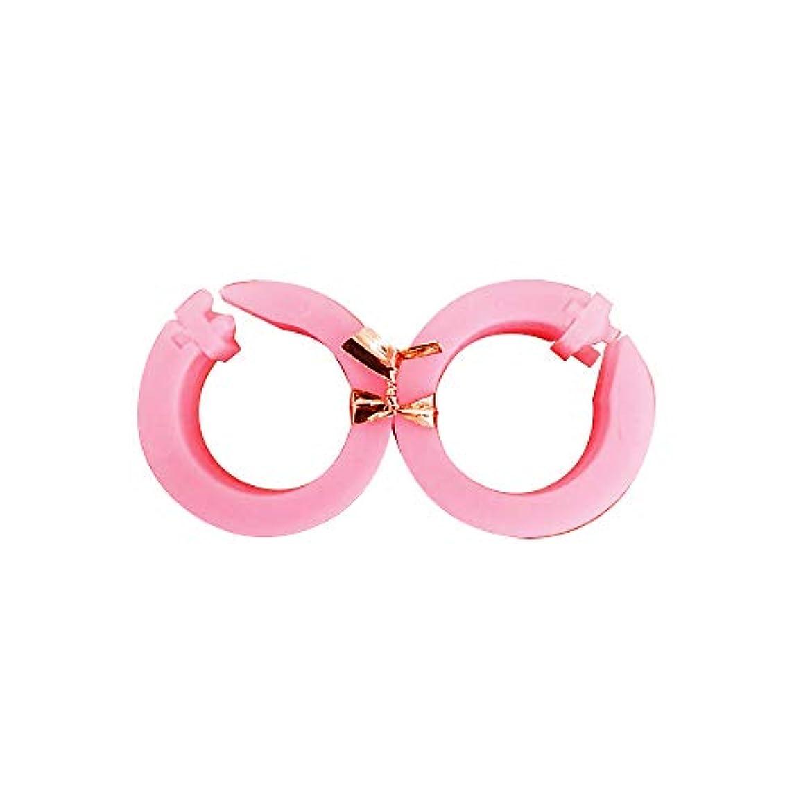 開いたのど蓋サフランフィールド 耳つぼ美人 ピンク 耳つぼ ダイエット リング 美容 ダイエット器具 美ら工房サフラン