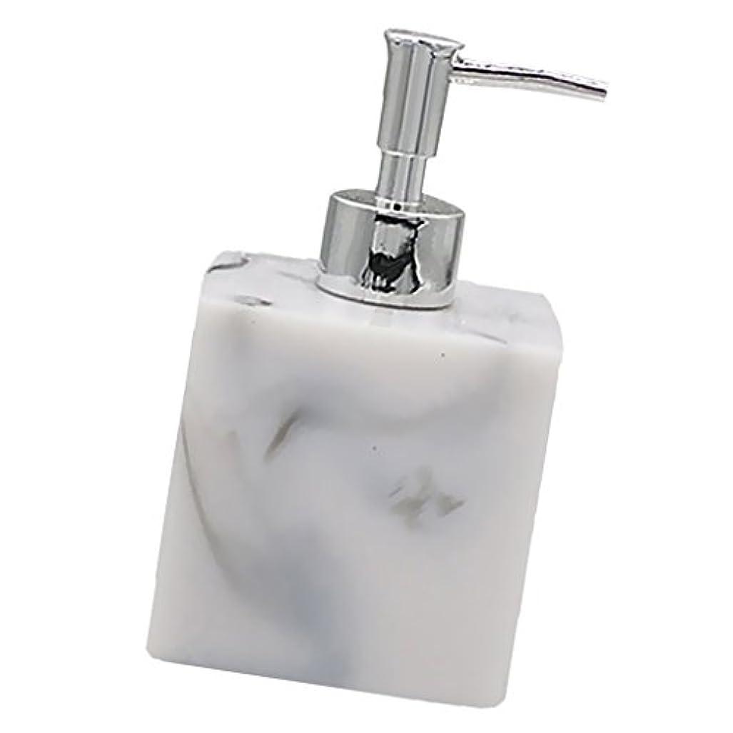 シンジケート新しさ模倣実用性 石けん シャンプー ディスペンサー 5色 ポンプ式 液体ボトル バスルーム キッチン 耐久性 - 大理石