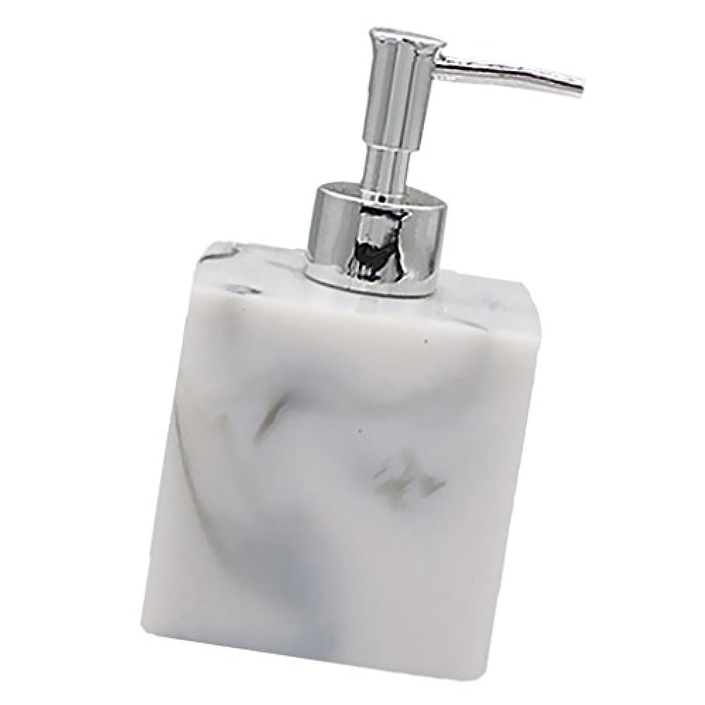 フィッティング忠実に概して実用性 石けん シャンプー ディスペンサー 5色 ポンプ式 液体ボトル バスルーム キッチン 耐久性 - 大理石