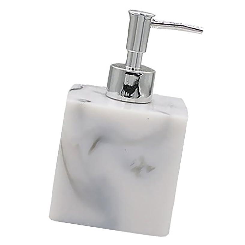 Baosity 実用性 石けん シャンプー ディスペンサー 5色 ポンプ式 液体ボトル バスルーム キッチン 耐久性 - 大理石