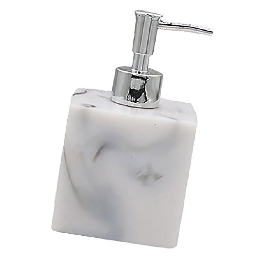 トレーダーストッキングカバレッジ実用性 石けん シャンプー ディスペンサー 5色 ポンプ式 液体ボトル バスルーム キッチン 耐久性 - 大理石