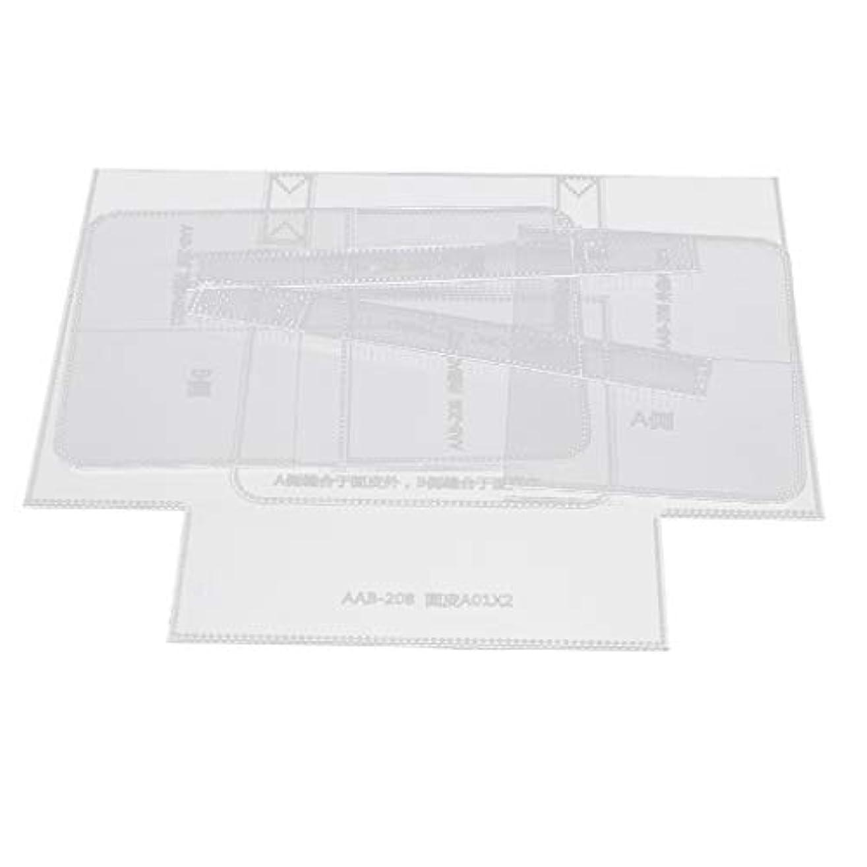 魅力的であることへのアピールソーセージキロメートルレザークラフト型紙 アクリル型紙 革工芸型紙 トートバッグ作り 革工芸品 1セット