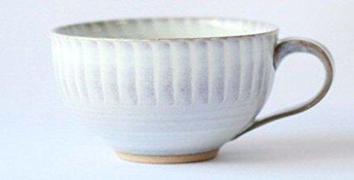 小石原焼 圭秀窯 マグカップ 白釉|コーヒー|スープ|伝統工...