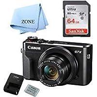 Canon G7X Mark II デジタルカメラ - Wi-Fi & NFC対応 (ブラック) 64GB SDHCカード付き