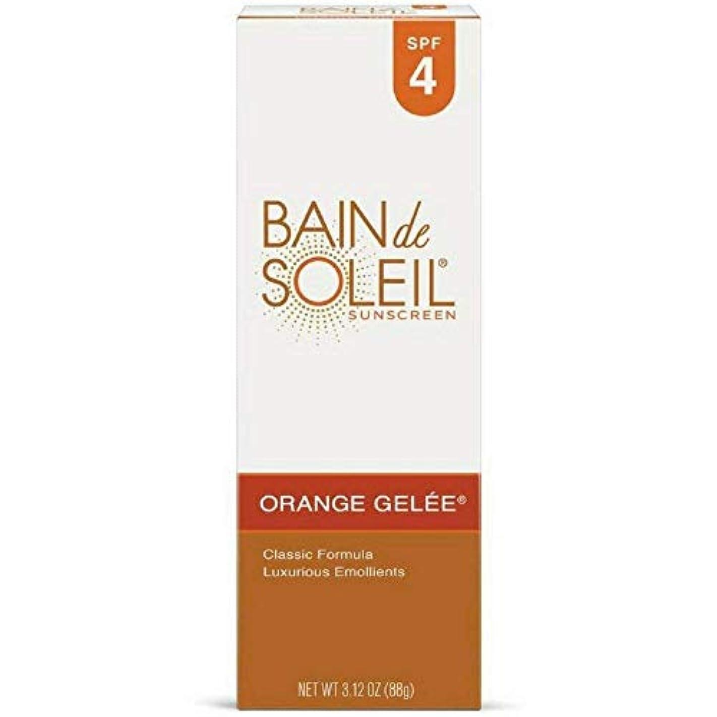 怒りパーツ水素Bain De Soleil オレンジジュレ日焼け止め、SPF 4 3.12オズ(4パック) 4パック