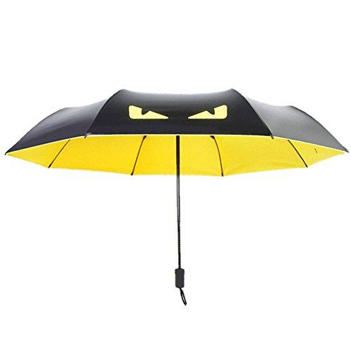 STARDUST 折り畳み式 悪魔の傘 デンビルラ 雨具 アンブレラ 折り畳み日傘 軽量 デザイン おしゃれ 男女兼用 丈夫 安全 長持ち (イエロー) SD-DEBIGASA-YE
