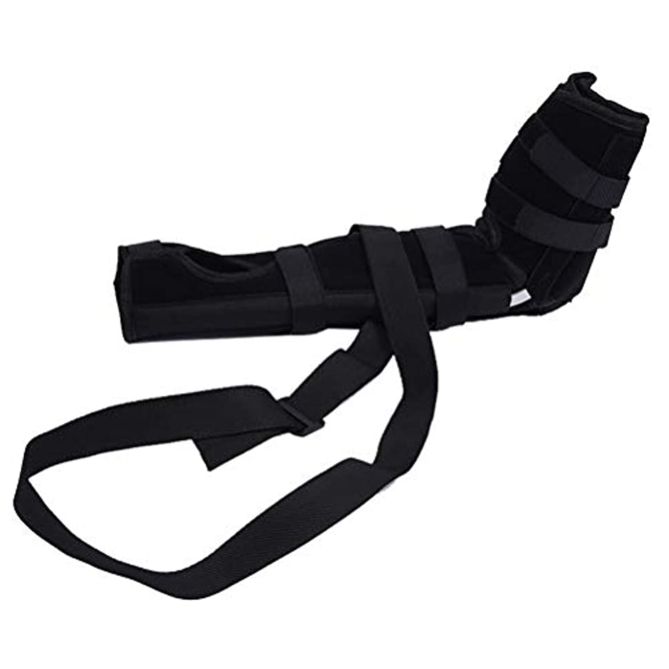 キリスト教炭水化物まぶしさSUPVOX 肘ブレース 関節サポート アームリーダー 保護 固定 腕つり 関節 保護 男女兼用 調節可能 通気性 術後ケアブレース(ブラック サイズS)