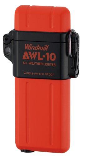 WINDMILL(ウインドミル) ターボライター AWL-10 内燃式 防水 耐風対応 マットオレンジ 307-0040