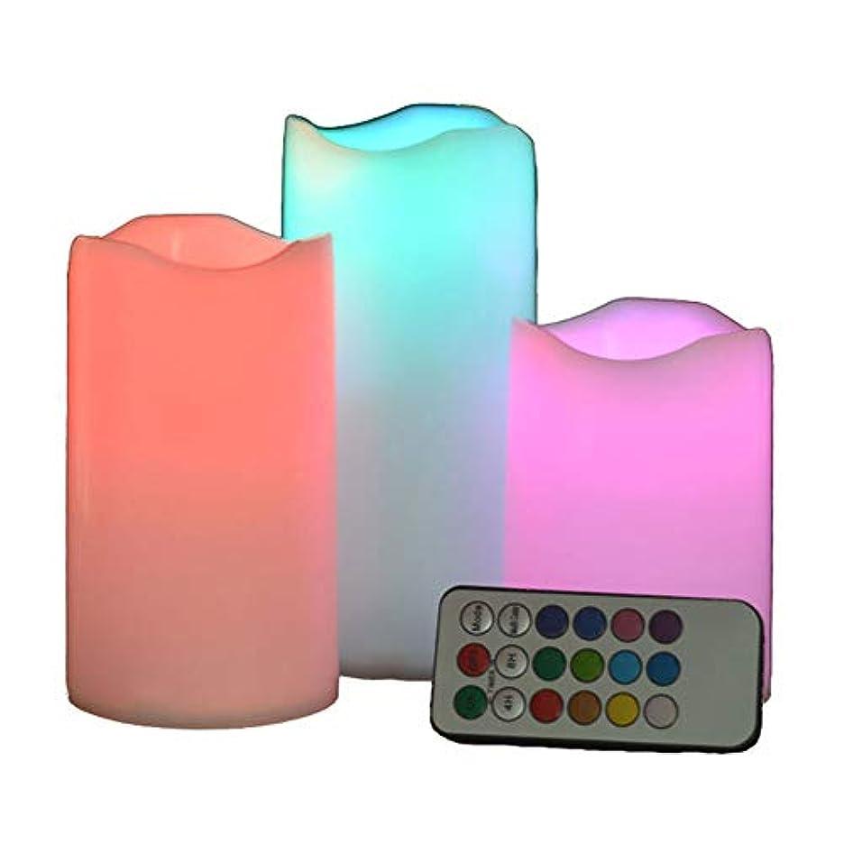 柱労苦素晴らしいですLEDリモートコントロール電子キャンドルクリエイティブ18キータイミングカラフルなプラスチッククリスマスライトキャンドルライト(バッテリーなし)