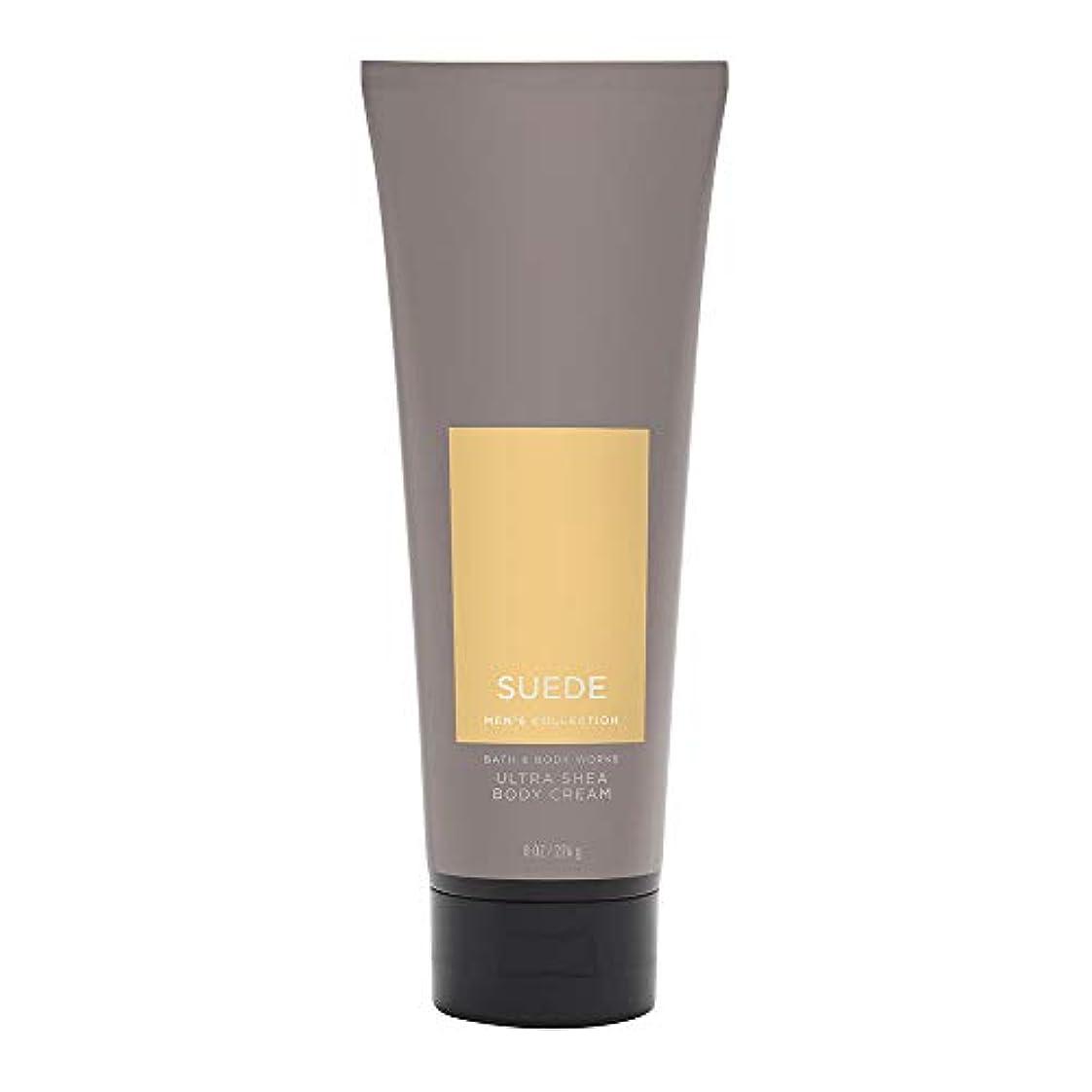 【並行輸入品】Bath and Body Works Suede for Men Ultra Shea Body Cream 226 g