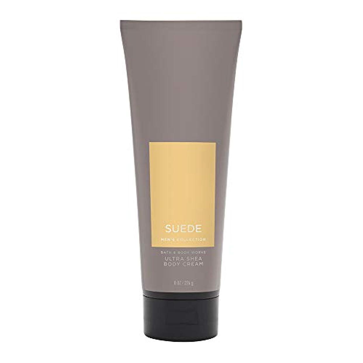 覆す大使罪【並行輸入品】Bath and Body Works Suede for Men Ultra Shea Body Cream 226 g