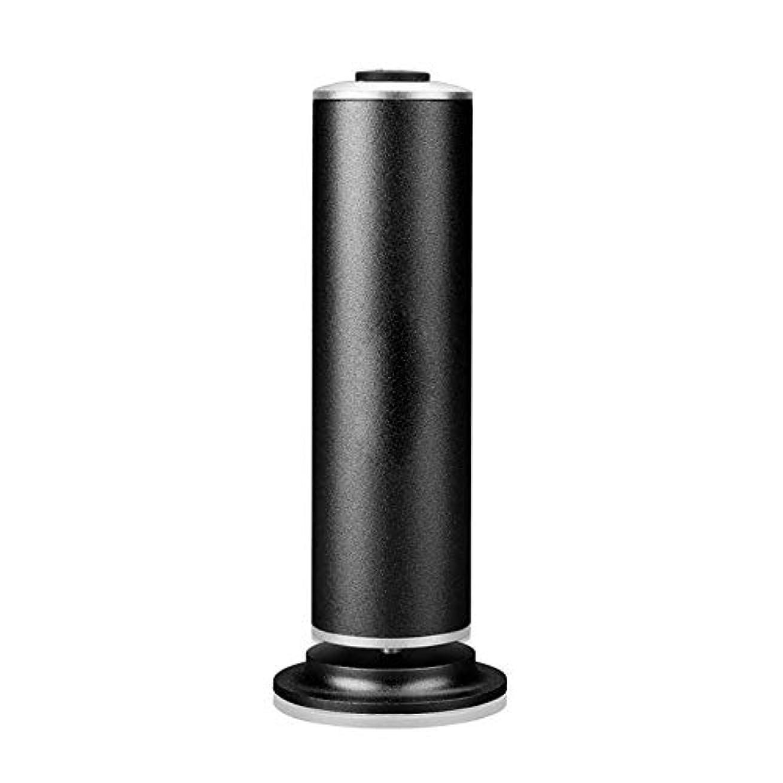 二層形式ボイラー電気足カルスリムーバープロフェッショナルペディキュア電子フットファイルツール高速削除乾いたハードとひびの入った肌 ペディキュアツール (色 : ブラック, サイズ : 22.5x12.5x5.5cm)