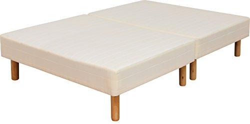 ottostyle.jp 脚付きマットレス 脚高25㎝ ボンネルコイル 【ダブル】 幅140cm分割式で移動楽々 収納ボックスが置ける マットレスベッド ベッド下収納可