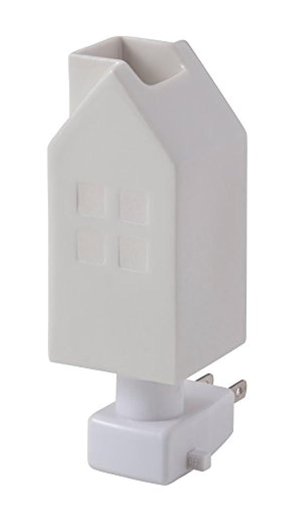 図書館活力チャネルイシグロ デザイン小物 ホワイト W4.8×D4.8×H13cm ハウスアロマライトコンセント型 ホワイト 20076