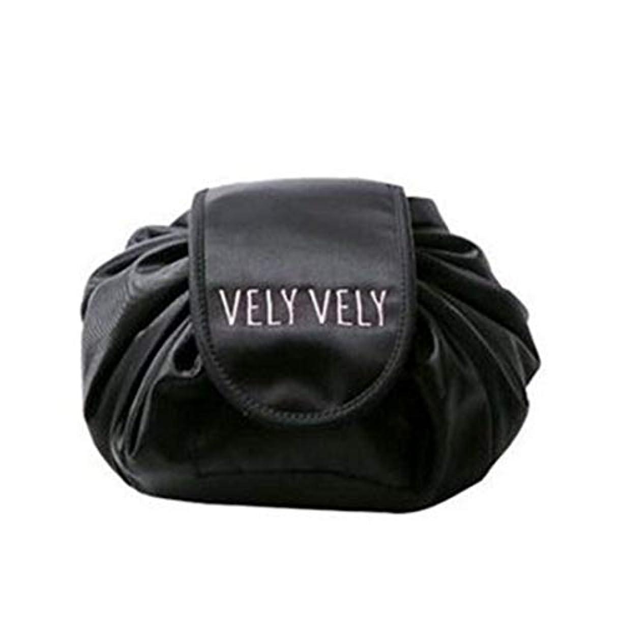 大理石発生ドック[テンカ]化粧バッグ 収納 メイクバッグ 化粧ポーチ 大容量 レディース 旅行 おしゃれ 折畳式 巾着型 防水