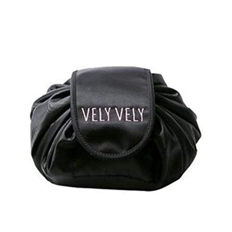 ヤギショット雷雨[テンカ]化粧バッグ 収納 メイクバッグ 化粧ポーチ 大容量 レディース 旅行 おしゃれ 折畳式 巾着型 防水