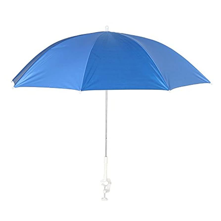 苦い障害ビルマダルトン Clamp umbrella 日除けパラソル 喫煙スペース 屋外収納などに H855-948 Sax x Blue
