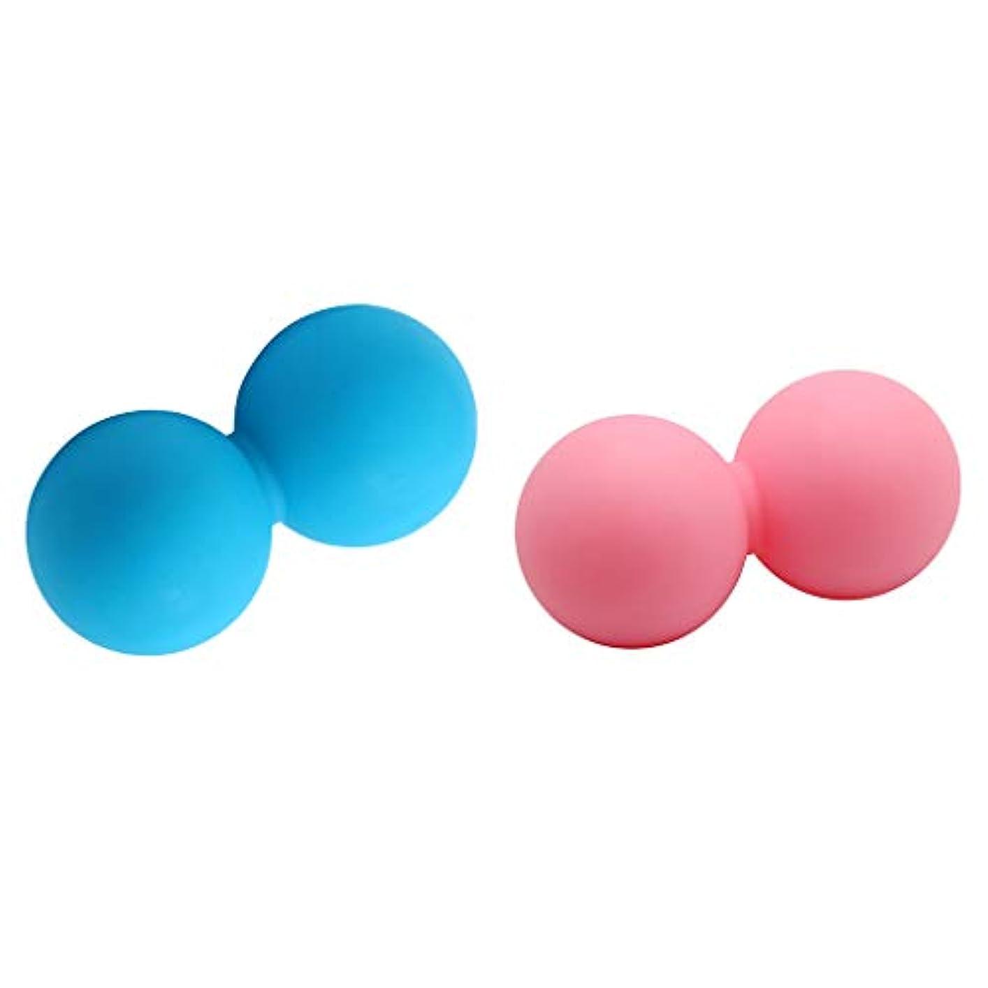 若さ大声でブルーベル2ピース マッサージボール 筋膜トリガーポイント リリース マッサージ ダブル ボール シリコン