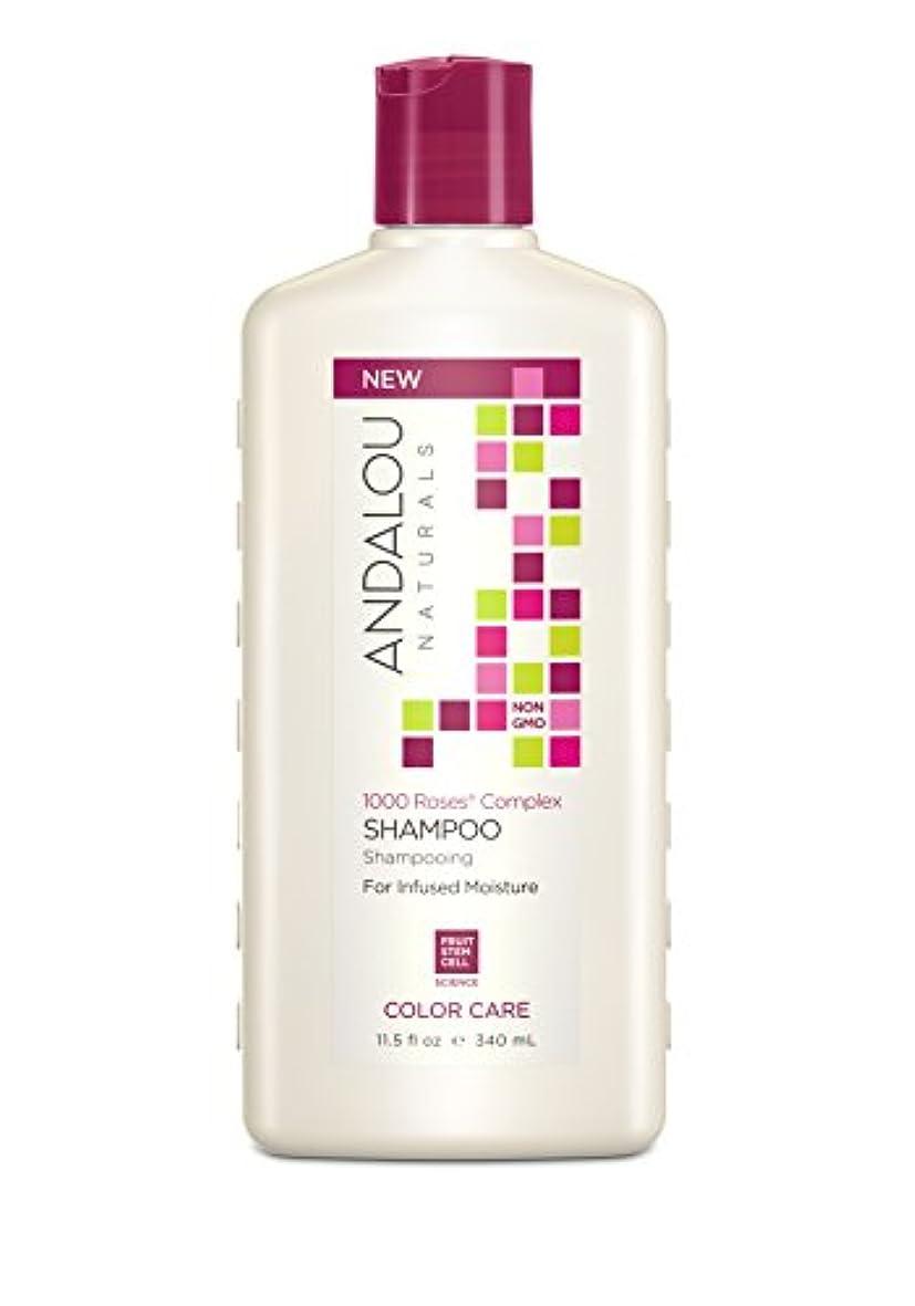 ブランク変化するおもしろいオーガニック ボタニカル シャンプー ナチュラル フルーツ幹細胞 「 1000 Roses CCシャンプー 」 ANDALOU naturals アンダルー ナチュラルズ